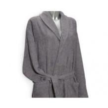 Clarysse Classic badjas met sjaalkraag Grijs