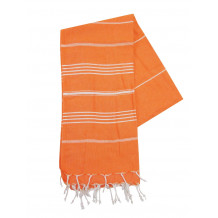 The One Towelling Hamamdoek Oranje/Wit