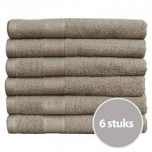 Seashell Handdoek 70 x 140 cm 500 gram Taupe - 6 stuks