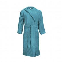 The One Classic Badjas met capuchon 420 gram Turquoise
