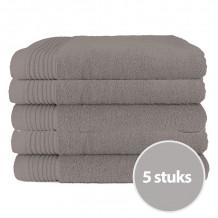 The One Badhanddoek Deluxe Voordeelpakket 70x140 550 gram Taupe (5 stuks)