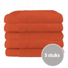 The One Badhanddoek Deluxe Voordeelpakket 70x140 550 gram Terra Spice (5 stuks)
